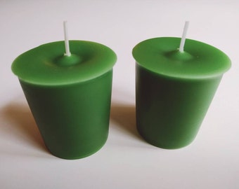 Sleigh Ride Votive Candles | Hand Poured & Highly Scented | Sets of 2 or 4 | Winter Pine and Mint Scent