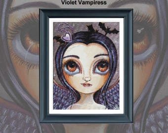 Violet vampiress  PDF chart only for 14 count
