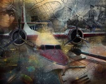 Freedom Plane, Plane, Gold,Blue, Black, History Airplane, WW2, War Heros, Liberty, USA,Airmen, Aircraft, Print, Photography, courage,pilot