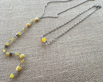 Yellow Solar Plexus Chakra Necklace