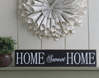 Home Sweet Home Sign, Home Sweet Home, Home Sign, Wood Signs, Wooden Home Sign, Home Decor, Housewarming Gift, Wedding Gift, Wall Decor