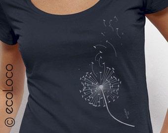 DANDELION  organic cotton  t shirt ecoLoco
