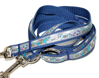 Dog leash adjustable dark blue grey dogs, leash for dogs