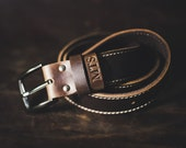 Men's Leather Belt, The Gunslinger, Probably the Last Handmade Leather Belt You'll Every Buy, Rugged, Rustic, Cowboy Approved