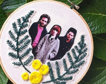 Daughter band/Daughter band wall decor/Daughter poster/Daughter embroidery/Elena Tonra wall decor