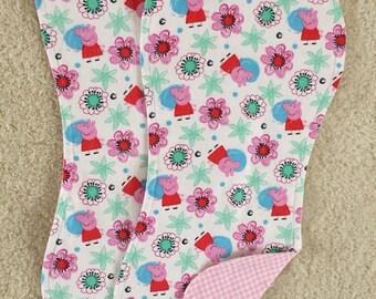 Peppa Pig burp cloths, Cartoon burp cloths, Baby girl burp cloths