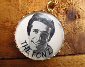 Vintage 1970's The Fonz Necklace - Happy Days Necklace- Fonz Jewelry