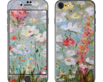 Flower Blooms by Daniella Foletto - iPhone 7/7 Plus Skin - Sticker Decal