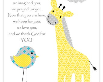 Before You Were Born Nursery Quote, Giraffe Nursery Art, Gender Neutral, Baby Room Decor, Nursery Wall Art, Baby Boy, Baby Girl, Baby Shower