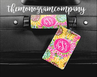 Luggage Tag, Monogram Bag Tag, Personalized Luggage Wrap, Luggage Finder Monogram, Monogrammed Gift, Personalized Gift, Suitcase-Made in USA