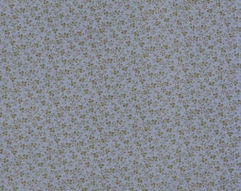 Moda Quilt Fabric - Blackbird Designs - Blueberry Crumb Cake Series - Blue Print - Two and a Quarter Yards