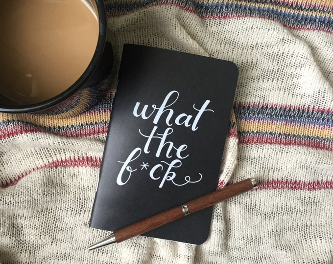 Featured listing image: Pocket Journal // What The F*ck Notebook