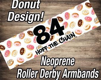Custom Roller Derby Armbands - Donuts