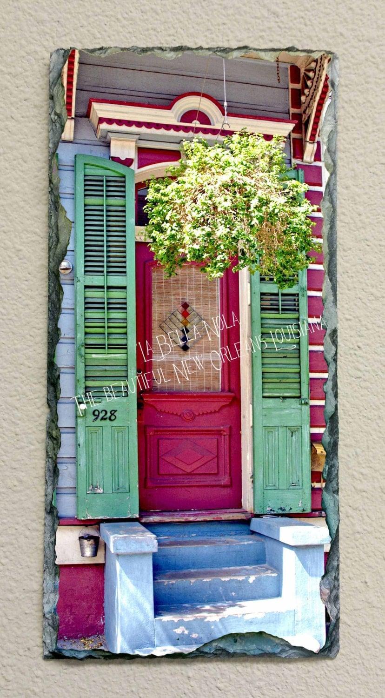 New Orleans Door 117 Slate New Orleans Art Slate Art