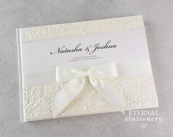 "Wedding Guest book, Hardcover - ""Natasha"""