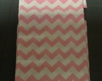 Light pink Chevron Fabric by the yard