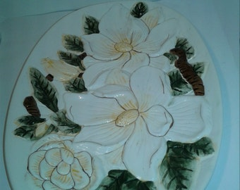 Magnolia oval tray/plate