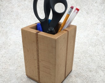 Wooden Pencil Cup - Large Pencil Holder