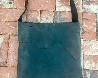 Large charcoal leather bag