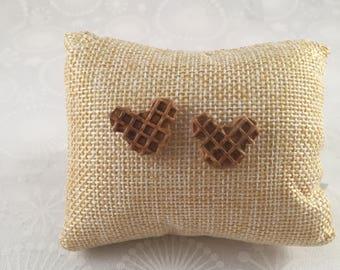 Mickey Waffle earrings