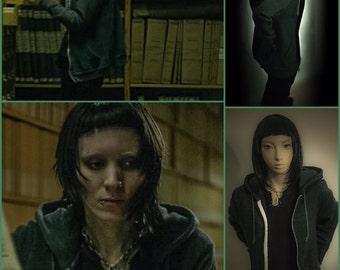 Lisbeth Salander Deluxe Hoodie,hoodies,goth,hoodies,the girl with the dragon tattoo,Rooney Mara,lisbeth salander,kawaii,grunge,gothic