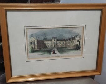 Original Print of Dulwich College, 'Election of Warden' 1843
