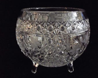 Large footed crystal bowl, item # 51