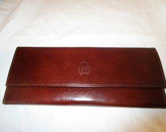 Vintage Mundi Leather Check Book Wallet