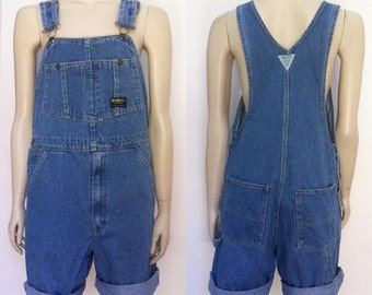 Vintage OSH KOSH denim short length overalls S-M