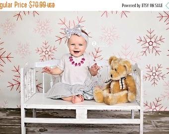 6ft x 6ft Snowflakes Photography Backdrop – Christmas Photo Background  – Item 1781