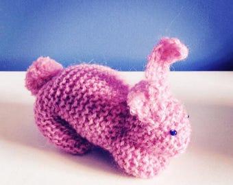 Cute plush / knitted rabbit decorative object