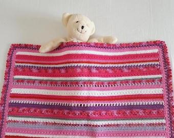 Baby blanket, crochet blanket, crochet, 100% cotton, babyblanket