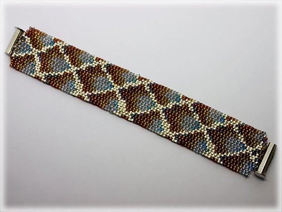 DragonScale 2 drop peyote bracelet beading TUTORIAL