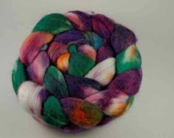 Unspun Roving - Merino/Silk blend - 100 grams/3.5 ounces - Gnome
