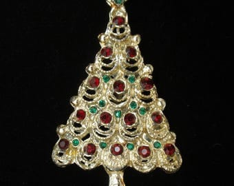 Christmas Tree Pin Xmas Brooch