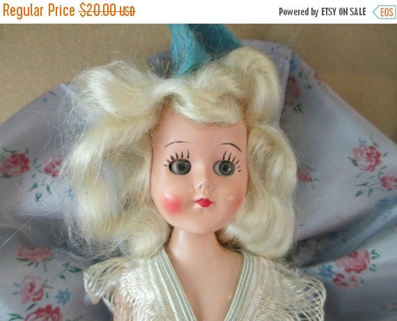 ON SALE Antique Blonde Doll In Original Box Made In The 40's Collectibles Gifts Children