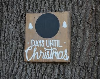 Days Until Christmas Chalkboard Sign | Christmas Signs | Holiday Decor | Christmas Decoration