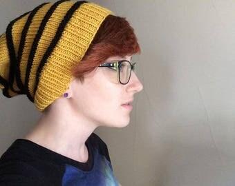 Hogwarts Hufflepuff Knit Slouchy Beanie Hat