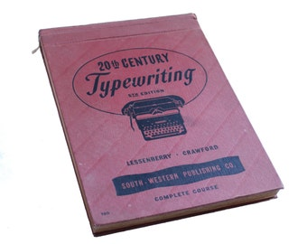 1947 Typing Book - Typewriting Book - Lessenberry & Crawford - 20th Century Fifth Edition