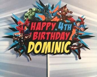 Superhero Cake Topper, Avengers Party Cake Topper, Justice League Cake Topper, Avengers Birthday Banner, Avengers Birthday, Cake Pals, hero