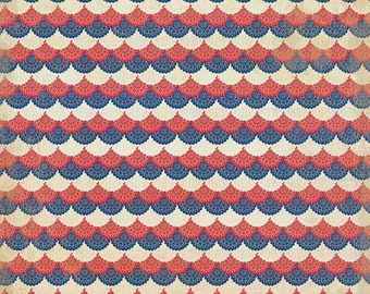 4 Sheets! AUTHENTIQUE Americana Bundle, 12X12 Designer Paper, 12X12 Double-sided Sheets, Patriotic Theme Scrap and Papercraft