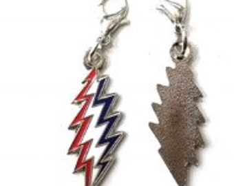 Grateful Dead red white and blue enamel zipper pull  and dog/cat collars