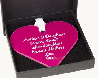 Mother's and Daughters- Acrylic heart Keepsake