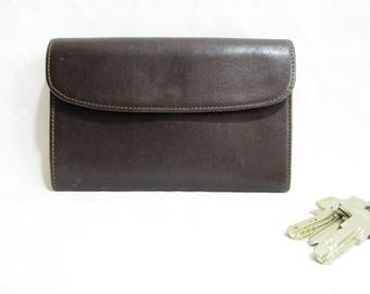 Vintage Quality Soft Brown Leather Large Wallet