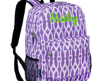 Personalized Wishbone CJ Backpack by Wildkin Monogrammed Embroidered