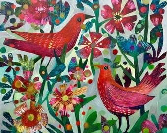 A new day. A limited edition print of 50 units of this colourful Este MacLeod original painting.