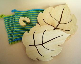 Coasters, Pot holders, Pot guard, Kitchen, Deco, Wood, Bio, Kitchen gadgets, Cooking gadgets, Trivet