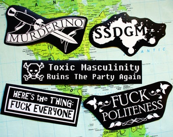 My favorite murder sticker pack - murderino, MFM, stay sexy don't get murdered, feminist punk serial killers, nasty woman, SSDGM, true crime