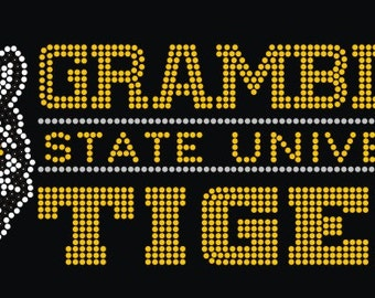 Grambling State Tiiger Chest Decor Transfer only