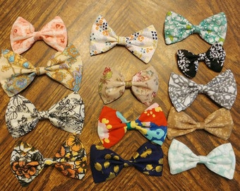 Floral Bow CUSTOMIZABLE [hair bow OR bow tie]